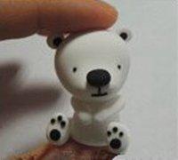 可爱的白色小熊玩偶软陶制作教程