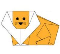 狮子的折法图解 儿童动物折纸教程