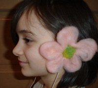 羊毛毡创意 羊毛毡手工花朵装饰耳机