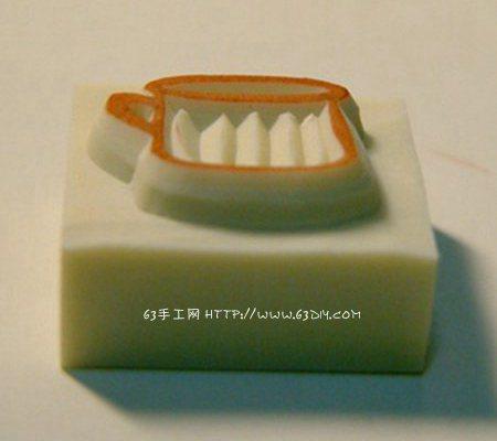 橡皮雕刻水杯印章 橡皮刻章教程