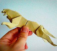 折纸豹子diy图解 动物折纸教程
