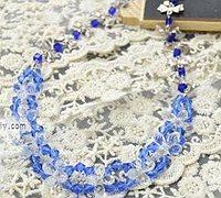 串珠与银器结合的串珠项链教程图解
