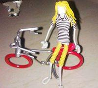 铁丝自行车制作图解 电线做自行车摆件