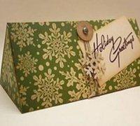 三角形包装盒展开图 创意礼品盒制作