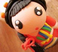 藏族姑娘软陶人偶的制作教程