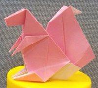 可爱的小松鼠折纸 动物折纸教程