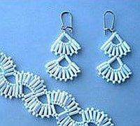 黑白色的魔术 串珠项链手链编织方法图解