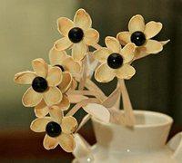 开心果壳废物利用diy清新的装饰假花
