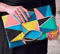 一款很有特色的O型口金布艺手拿包包制作