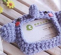 可爱的小象证件套钩针编织花样图解