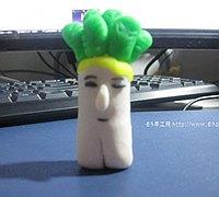 橡皮泥手工制作可爱的萝卜达人