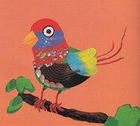 小鸟在树上歌唱儿童手工拼贴画教程