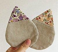 水滴形状的拼布杯垫制作