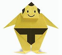 日本相扑运动员手工折纸图解