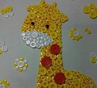 怎样制作纽扣粘贴画 儿童手工创意粘贴画教程