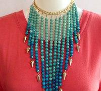 时尚大气的手工串珠项链教程图解