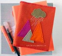 个性创意的不织布书套手工制作图解