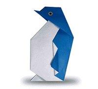 可爱的小企鹅折纸图解 动物折纸教程