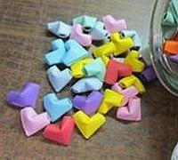 许愿瓶里的爱心怎么折 立体爱心的折法图解