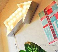 箭头华盖壁灯的木板制作教程 浪漫而复古