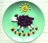 有趣的创意水果拼盘 食物拼贴艺术欣赏