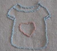 手工刺绣针法之轮廓绣的绣法