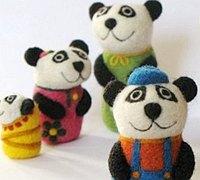萌系羊毛毡diy小物手工作品欣赏
