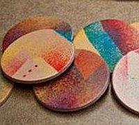 制作创意手工皮革染色杯垫的过程图解