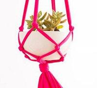 旧衣服变废为宝制作花盆创意小吊篮