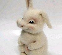 可爱的羊毛毡小兔子制作教程
