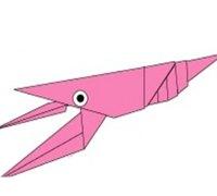 小龙虾折纸手工教程 小龙虾的折法