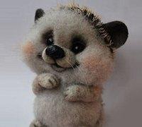 可爱的羊毛毡小刺猬玩偶制作教程 非常逼真