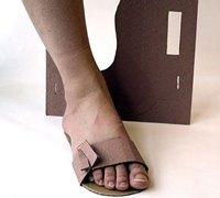 简易的硬纸板diy拖鞋创意设计