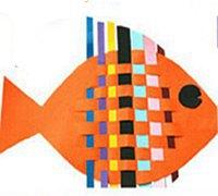漂亮五彩小鱼的纸条编织教程