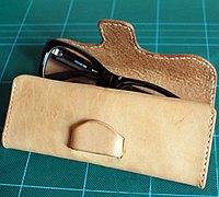 手工制作眼镜盒 手工牛皮眼镜盒制作教程