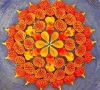 美丽的花朵创意手工拼贴画作品