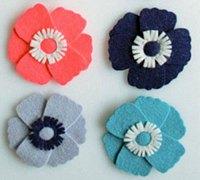 不织布花朵的做法 不织布冰箱贴手工制作