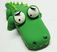 可爱的小鳄鱼软陶玩偶制作教程