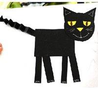 可爱的猫咪儿童手工剪纸拼贴画