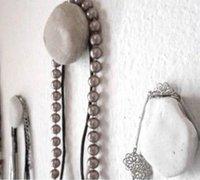 石头也能用来挂东西 创意石头壁挂挂钩制作