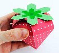 可爱的小草莓糖果礼品盒折纸教程