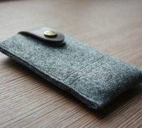 简洁大气的不织布手机包手工制作教程