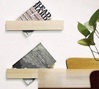 一组结构简单却极有创意书架设计图片