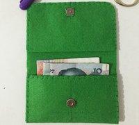 用不织布制作简单的刺绣图案零钱包