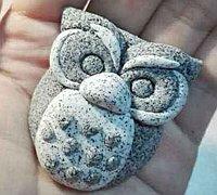 石雕质感的猫头鹰粘土教程