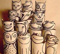 卫生纸卷筒废物利用手工制作合集
