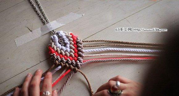 欧美风项链挂饰绳编手工制作_编织手工-txw天下网