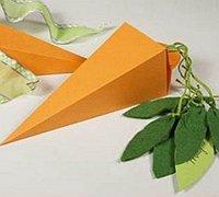 胡萝卜造型折纸礼品包装盒diy图解