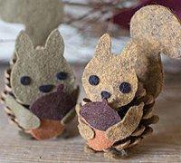 可爱的小松鼠采松果造型diy图解