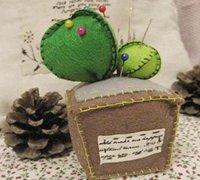 用不织布手工制作一株萌哒哒的仙人球